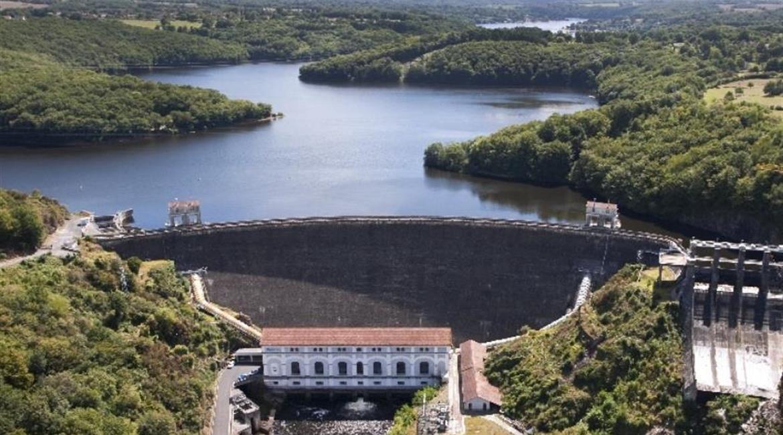 INDRE : le lac d'Eguzon abaissé